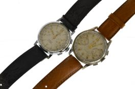 A Limit mechanical steel chronograph wristwatch circa 1970's in overall good condition together with
