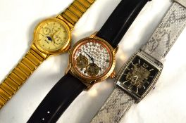 Three gents wristwatches, two automatic to include Accurist & a quartz Seconda