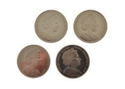 Four British Virgin Island 2006 silver $10 coins commemorating The Greatest Britons to include