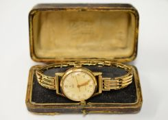 TUDOR - A 1950's 9ct gentleman's Tudor Royal mechanical wristwatch H/M Birmingham 1953, the
