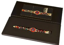 Swatch - Two swatch quartz wristwatches, one a Limited Edition Sam Francis Art no 44985/49999,
