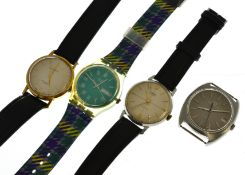 Four wristwatches to include two mechanical an Oris & Smiths, together with a Universal Geneve