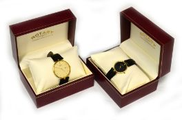 Two Rotary Artemis quartz wristwatches dated 1996, a gents & a ladies, both with box & guarantee,