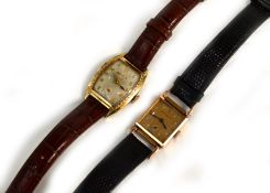 BULOVA - Two mechanical Bulova gold filled/plated wristwatches, circa 1930/40's, both on later