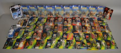 52 carded Star Wars figures from various ranges (52)