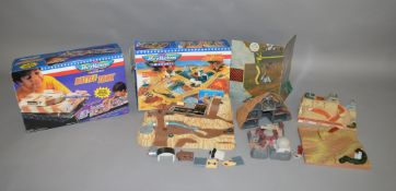 2 boxed Micro Machines sets, which includes; Wolf Ridge Battleground and Battle Tank, this lot
