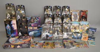 A large quantity of Star Trek items,mainly figures in original packaging. This lot is contained over