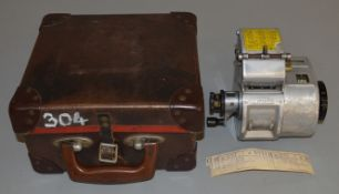 A scarce London Transport A14 Gibson Bus Conductors Ticket Machine with original Carry Case. This