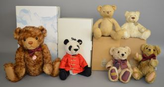 2 boxed Steiff  Bears - 'Little Tom' and 'Panda Bao Bao' together with 2 boxed 'Histoire d' Ours...'