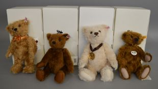 4 boxed Steiff Bears - 'Jona', 'Oakley MBI', 'Worlds First MBI' and 'MBI'. (4)