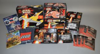 20 Star Wars items which includes; Naboo Fighter, Naboo and Droid Fighter battle, mini movies etc (