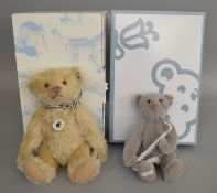 2 boxed Steiff Bears, 'Mr Vanilla' 1906 Replica and a Lladro Saxophonist Bear, both with