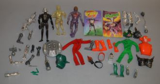3 unboxed 'Muton' action figures, by Denys Fisher Toys, including Android and Cyborg, together