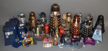 A good quantity of mostly unboxed Doctor Who items, mainly Daleks of varies sizes, this lot is