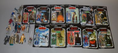 25 Star Wars figures 11 are carded and 13 uncarded, which includes Paploo, Anakin Skywalker etc,