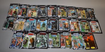 25 Star Wars figures on reproduction cards, which includes Jawa, Rebel Pilot, Sand People etc (25).