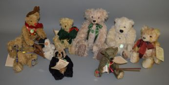 8 unboxed Hermann Bears including Reindeer, Millennium Baby Panda etc. (8)