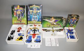 4 boxed Power Rangers transformer figures by Bandai (4).