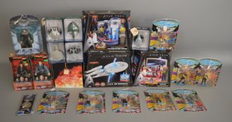 A large quantity of Star Trek items which are mainly figures, this lot is contained over 2 boxes (