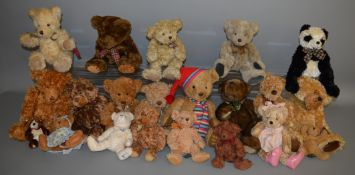 21 unboxed Bears including a number by Russ Berrie, 'Dixon', 'Duncan' etc.. (21)
