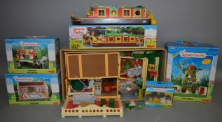 5 boxed Sylvanian Families items, also included in this lot is an unboxed house and accessories.