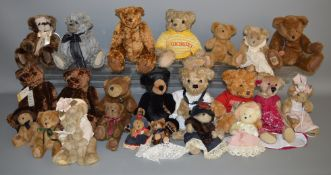 23 unboxed Bears including 'House of Fraser - Fraserbear 2007', and others from 'Giorgio', 'Charlie'