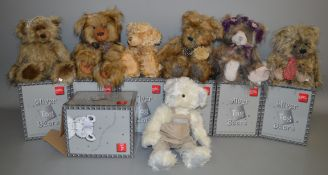7 boxed 'Suki' Silver Tag Bears including 'Ben', 'Harry' and 'Jacob', and also includes one metal '