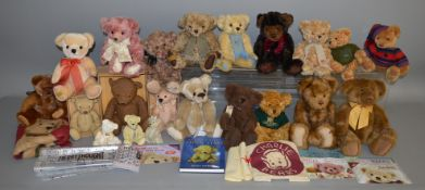 18 unboxed bears including 4 from the 'Merrythought' range and others by 'Charlie', 'Nessa', '