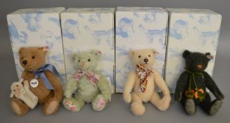 4 boxed Steiff Bears - 'Fritzle', 'Autumn', 'Little Boy Blue' and 'Fleur'. (4)
