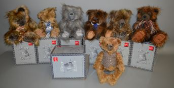 7 boxed 'Suki' Silver Tag Bears including 'Freddie', 'Tyler' and 'Jake' and also includes one
