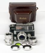 Kodak Signet 80 35mm Outfit. To include Ektanar 50mm f2.8, 35mm f3.5 and 90mm f4 lenses. Each with