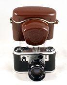 Chrome Corfield Periflex Gold Star Camera. #911124 51 (condition 4F). With Lumax 50mm f2.4 lens (