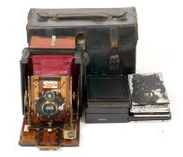 A Sanderson 'Hand & Stand' Camera. (condition 5F) with Cooke Series III 4 1/4 x 3 1/4 lens. In