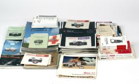 Large Quantity of Camera Brochures & Instruction Books etc. (Side of cabinet W)