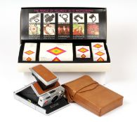 Polaroid SX-70 Instant Film Camera Outfit. Comprising chrome and tan SX-70 (cosmetically very good