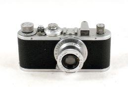 Chrome Leica Standard camera #352902. (wear to rear chrome, hence condition 5/6F). With Elmar 5cm