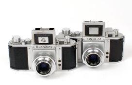 Asahiflex & Tower 23 Cameras. Comprising Asahiflex Ia #65048 (condition 5/6F) and a Tower 23 #54314,