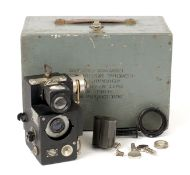 AGI Dial Camera MkV with Agilux 80mm f3.5 Lens in Agilux shutter. (condition 5F) in fitted box.