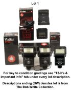 Quantity of Vivitar 283 and Other Flash Units. To include 2x 283 Auto Thyristor units, boxed 285