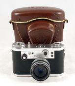 Chrome Corfield Periflex Gold Star 3 Camera. #07228 14. (condition 4/5F). With Lumax 45mm f2.8