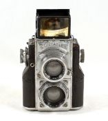 Zeiss Ikon Contaflex 35mm TLR. With Sonar 5cm f2 lens (finder and front covering edges poor, hence