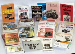 LARGE Quantity of Pentax Instruction Books & Manuals. Most PK and medium format models covered. (