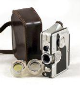 Gorez Minicord 16mm TLR Sub Miniature Camera. Styled like a small cine camera. (condition 5F).