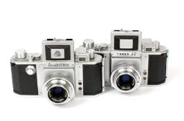Asahiflex & Tower 22 Cameras. Comprising Asahiflex IIa #68999 (condition 5F) and a Tower 22 #