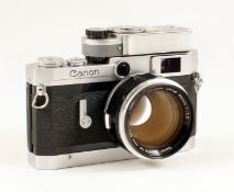 Chrome Canon VI T Rangefinder Camera with FAST 50mm f1.2 Lens. (both condition 5F). In ERC. Also a