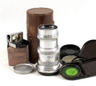 Carl Zeiss Jena 13.5cm f4 Sonnar Lens, Contax/Nikon Rangefinder Fit. #2233209 (condition 4/5F)