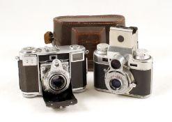 Zeiss & Bolsey 35mm Coupled Rangefinder Cameras. Comprising a Zeiss Ikon Contessa 533/24 CRF