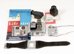 Tessina 35 Auto Watch-Style Miniature Camera. #463908. (condition 4F). Comes with camera leaflets,
