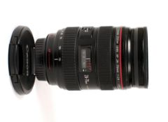 Canon EF 24-70mm f2.8 L Series USM Zoom Lens. (condition 5E) With caps and UV filter. (Cabinet B)