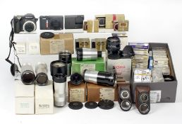 An Interesting Collection of Taylor Hobson Lenses & Other Items. To include 9mm f1.9 Arriflex